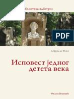 Alfred de Mise-Ispovest Jednog Deteta Veka 1