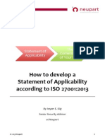 How to Develop a Statement of Applicability According to ISO 27001-2013