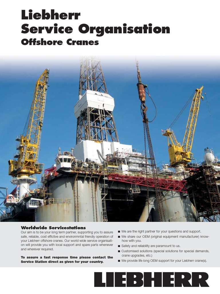 Liebherr Service Stations Offshore Cranes 12795-0 | Global Business