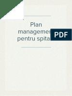 Plan management pentru spitale