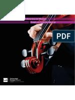 Nuevo Folleto de los grados de música de la Universidad Europea de Madrid. octubre 2013