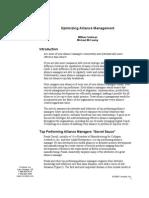 Optimizing Alliance Management