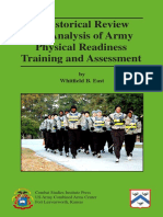 Historical Analysis of Army Physical Readiness Training & Assessment