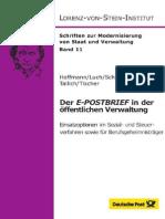 Der E-POSTBRIEF in der öffentlichen Verwaltung - Einsatzoptionen im Sozial- und Steuerverfahren sowie für Berufsgeheimnisträger
