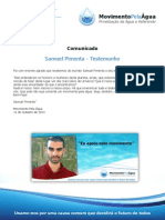 Testemunho Samuel Pimenta