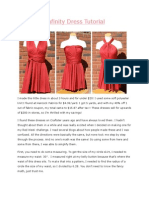 Little Red Infinity Dress Tutorial
