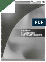 Progr de Estudios 2011