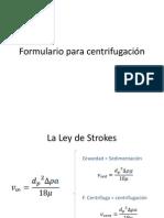 Formulario para centrifugación