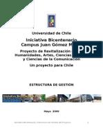 Estructura de Gestión Bicentenario (propuesta de autoridades)