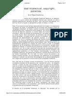 Propiedad Intelectual, Copyright, Patentes