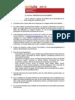 """Bases Concurso """"Medicina en 100 Palabras"""" MEDULA 2013"""