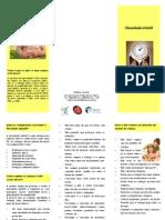 Folheto Informativo Sobre Obesidade Infantil