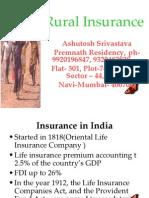 Rural Insurance in India