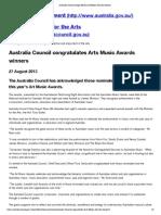 australia music awards