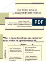 How Not to Write an Unsuccessful Grant
