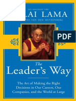 The Leader's Way by His Holiness The Dalai Lama and Laurens van den Muyzenberg - Excerpt