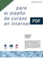 Guia para el diseño de cursos de internet
