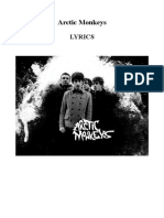 Arctic Monkeys albums lyrics