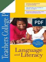 Language and Literacy Education, Teachers College Press. Fall 2013