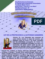 Ley de La Proteccion a La Actividad Ganadera