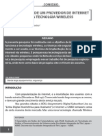 IMPLANTAÇÃO DE UM PROVEDOR DE INTERNET COM A TECNOLGIA WIRELESS