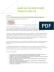 background on ancient greek science and art