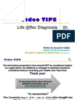 Video TIPS FOR CANCER PATIENTS