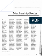 Council on Foreign Relations Rosters 2001-2006