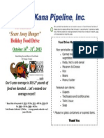 Kana Pipeline 6th Annual Food Drive 2013