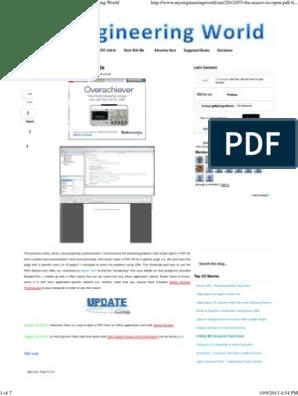 VBA Macro to Open a PDF File   Portable Document Format