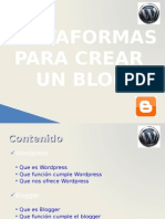 Wordpress vs Bloggerv