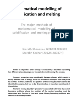 Mathematical Modelling of Solidification and Melting (1)