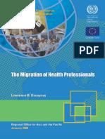 ILO MGREU WP07 - The Migration of Health Professionals
