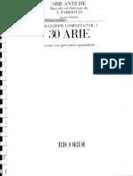 Arie Antiche - Vol I - Parisotti - Ricordi Edition