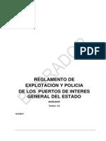 Borrador  REGLAMENTO DE EXPLOTACIÓN Y POLICIA DE LOS PUERTOS DE INTERES GENERAL DEL ESTADO
