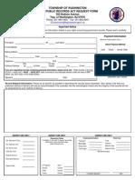 Washington OPRA Request Form