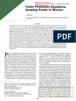 CANAVAN' and VESCOVI_2004_CMJ X SJ Evaluation of Power Prediction Equations Peak Vertical Jumping Power in Women