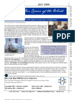 July 2009 Newsletter