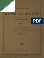 Lepsius, Carl Richard - Denkmäler aus Aegypten und Aethiopien - Band 3 - Theben