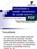 Praticas textuais TEXTUALIDADE