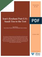 Iran's Rouhani Puts U.S.-Saudi Ties To The Test
