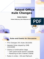 Patent Office Rule Changes 7-20-2009