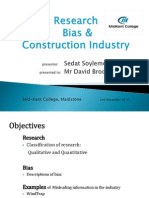 Research Bias in Construction