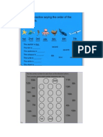 math ordinal positions - smartboard