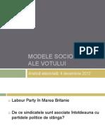 Curs Modele Sociologice