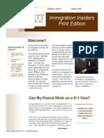 Immigration Insiders Summer Newsletter 2013