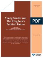 Young Saudis and the Kingdom's Political Future