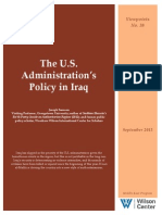The US Administration Policy in Iraq