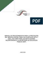 Manual de Procedimientos Servicio Social