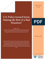U.S. Policy Towards Syria